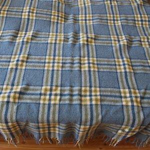 Vintage 50s 60s Pendleton Plaid 100% Wool Blanket